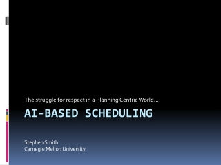 AI-Based scheduling