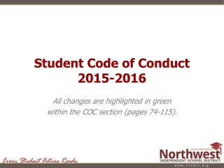 Student Code of Conduct  2015-2016