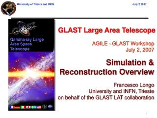 GLAST Large Area Telescope