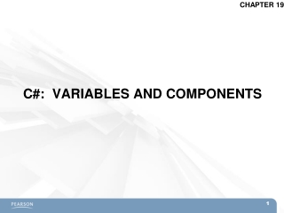 C#:  VARIABLES AND COMPONENTS