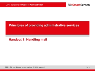 Handout 1: Handling mail