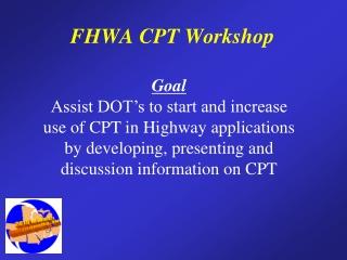 FHWA CPT Workshop