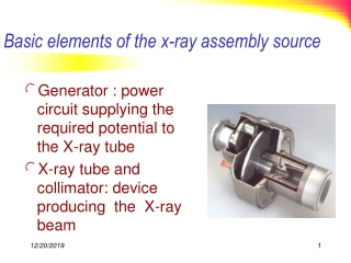 Basic elements of the x-ray assembly source