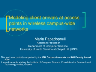 Modeling client arrivals at access  points in wireless campus-wide  networks