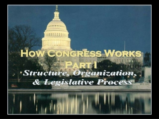 How Congress Works Part I