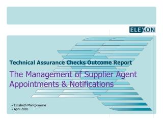 Technical Assurance Checks Outcome Report