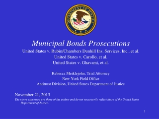Municipal Bonds Prosecutions United States v. Rubin/Chambers Dunhill Ins. Services, Inc., et al.