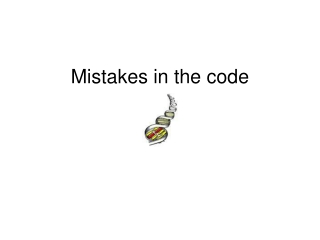 Mistakes in the code