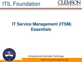 IT Service Management (ITSM) Essentials
