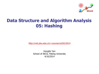Data Structure and Algorithm Analysis 05: Hashing