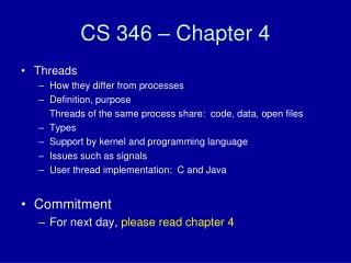 CS 346 – Chapter 4