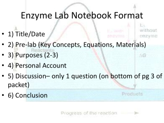 Enzyme Lab Notebook Format