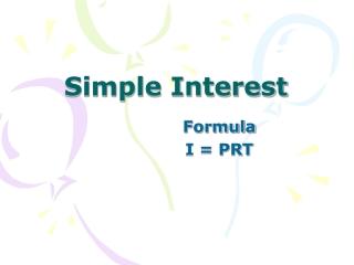 Simple Interest