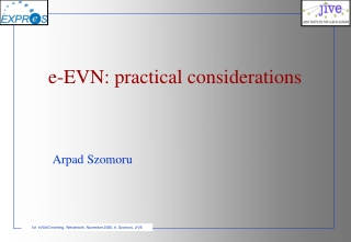 e-EVN: practical considerations