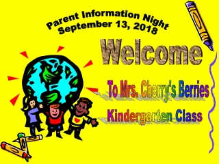 Parent Information Night September 13, 2018