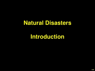 Natural Disasters Introduction