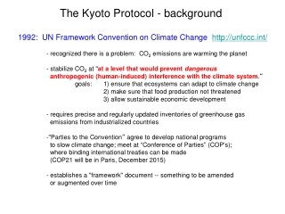 The Kyoto Protocol - background