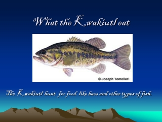 What the Kwakiutl eat