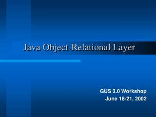 Java Object-Relational Layer