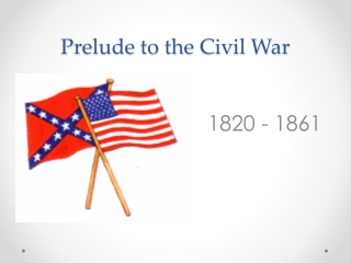 Prelude to the Civil War