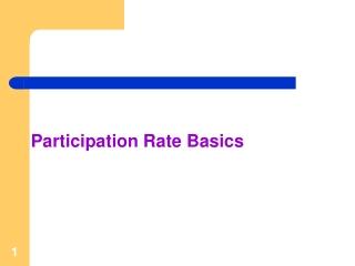 Participation Rate Basics