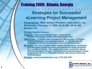 Training 2009:  Atlanta, Georgia