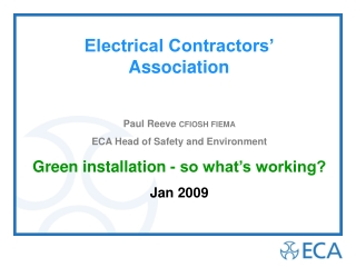 Electrical Contractors' Association