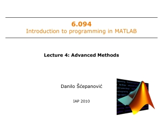 6.094 Introduction to programming in MATLAB
