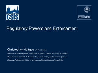 Regulatory Powers and Enforcement