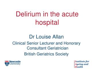 Delirium in the acute hospital