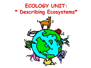 ECOLOGY UNIT: * Describing Ecosystems*