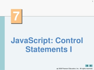 JavaScript: Control Statements I