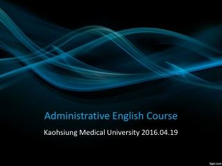 Administrative English Course