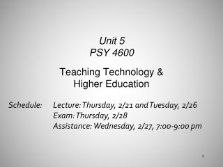 Teaching Technology & Higher Education
