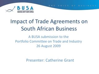 Impact of Trade Agreements on South African Business