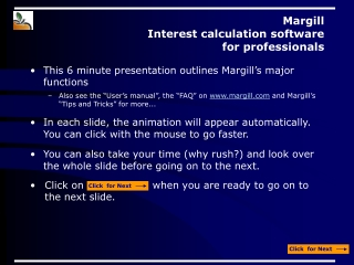 Margill  Interest calculation software  for professionals