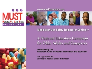 After viewing this program, older adults and their caregivers will be able to discuss: