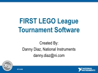 FIRST LEGO League Tournament Software