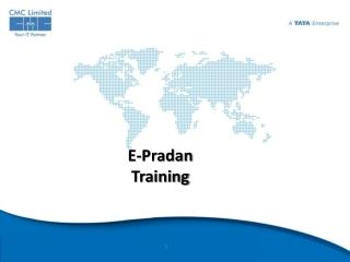 E- Pradan Training