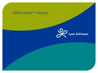 CBISA Online™ Reports