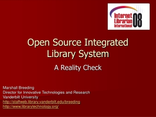 Open Source Integrated Library System