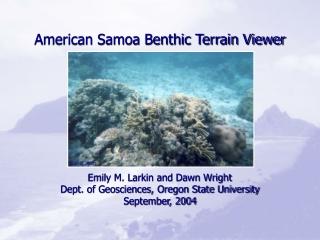 American Samoa Benthic Terrain Viewer