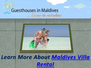 Maldives Villa Rental
