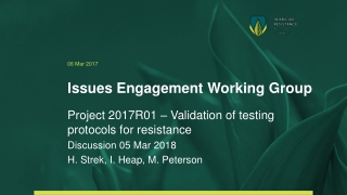Issues Engagement Working Group