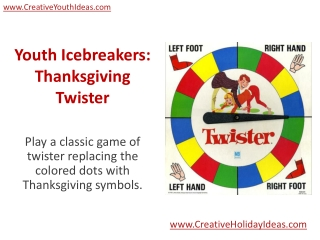 Youth Icebreakers: Thanksgiving Twister