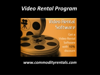 Video Rental Program