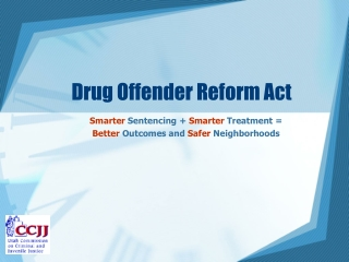 Drug Offender Reform Act