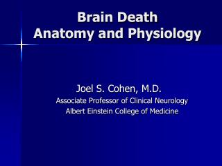 Brain Death Anatomy and Physiology
