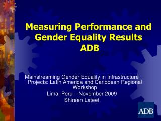 Measuring Performance and Gender Equality Results  ADB