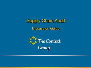 Supply Chain Audit Discussion Guide